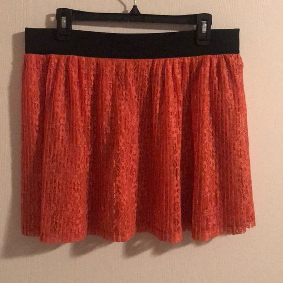 Candie's Dresses & Skirts - 🍊Candie's Orange Lacy Skirt 🍊